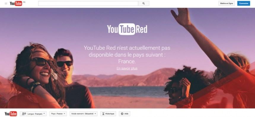 Youtube Red in France - regarder débloquer youtube red en france