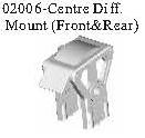 02006 - Front/rear throttle mount*1SET 1