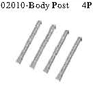 02010 - Body mounts*4PCS 7