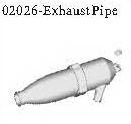 02026 - Exhaust pipe*1pc 9