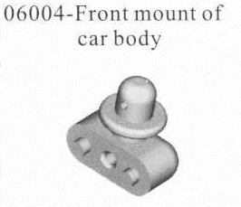 06004 - Front mount of car body*1 3