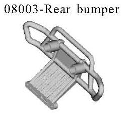 08003 - Rear bumper block*2PC 3