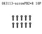 083113 - Round head screw PB2*8 10stk 1