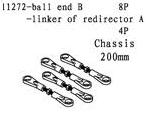 11272 - BALL END B - LINKER OF REDIRECTOR A - 4sæt 8