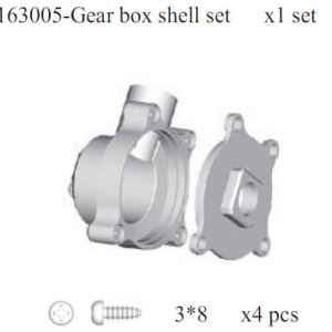 163005 - Gear box shell set 2