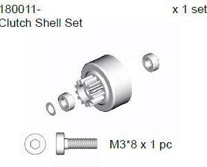 180011 - Clutch Bell Set 4