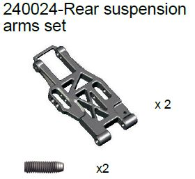 240024 - Rear suspension arms set 10