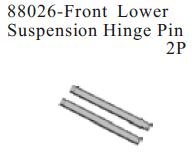 88026 - Front lower Suspension Hinge Pin 2P 1