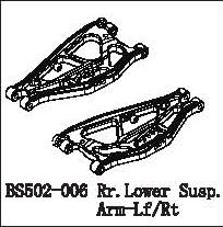 BS502-006 - Rr.Lower Susp.Arm-Lf/Rt 4