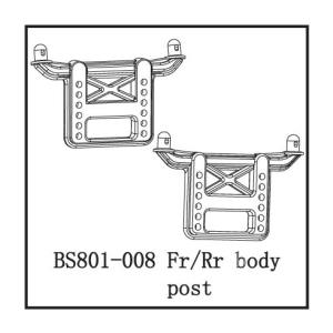 BS801-008 - Fr/Rr body post 1
