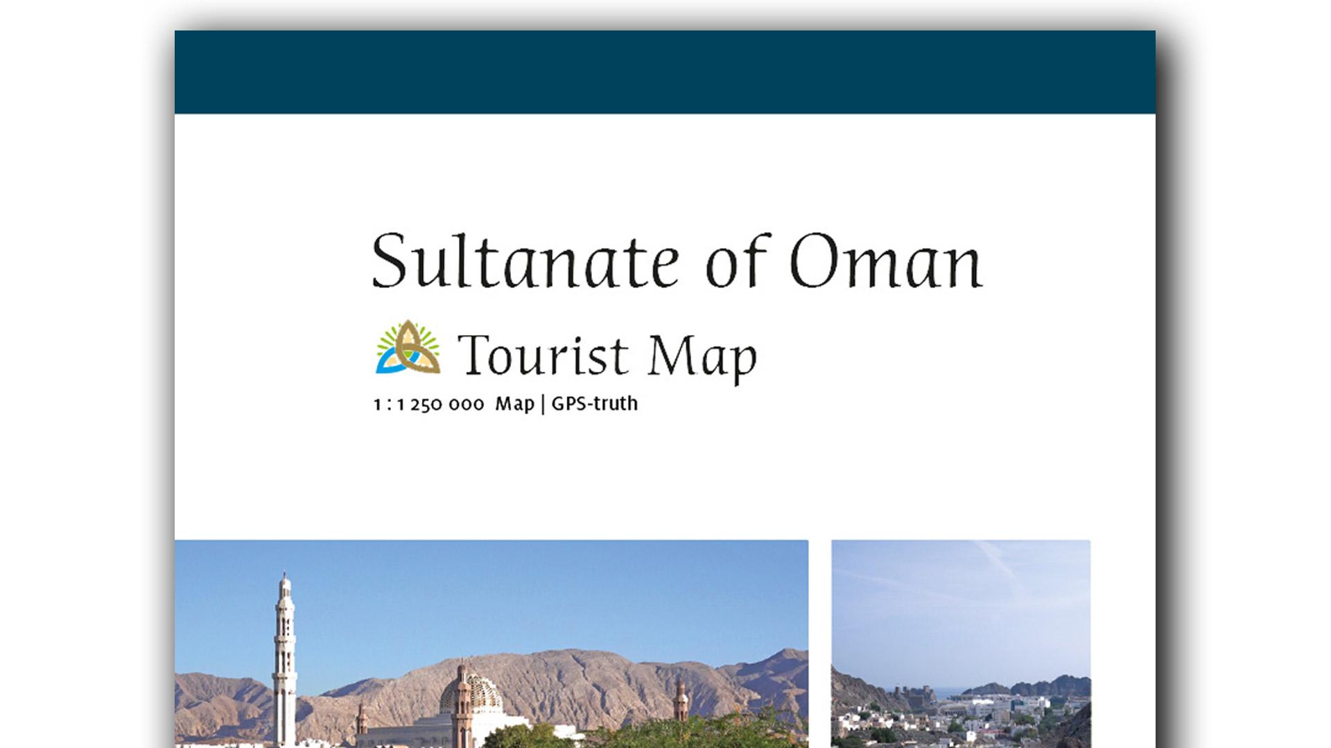 Touristische Karte Oman