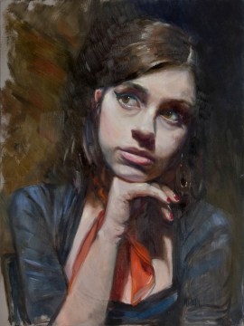 As Amy, 16x12,oil
