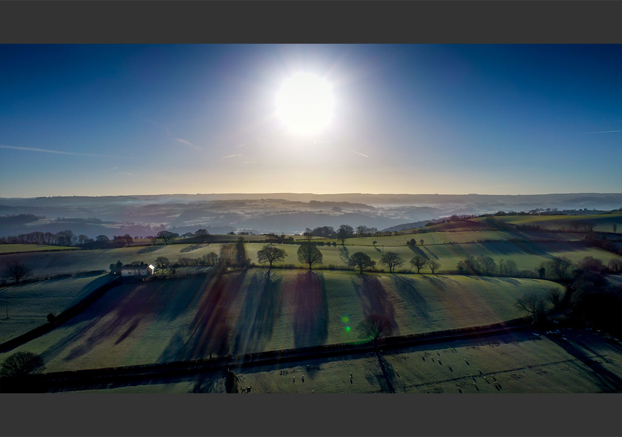Sunset over the heart of wales