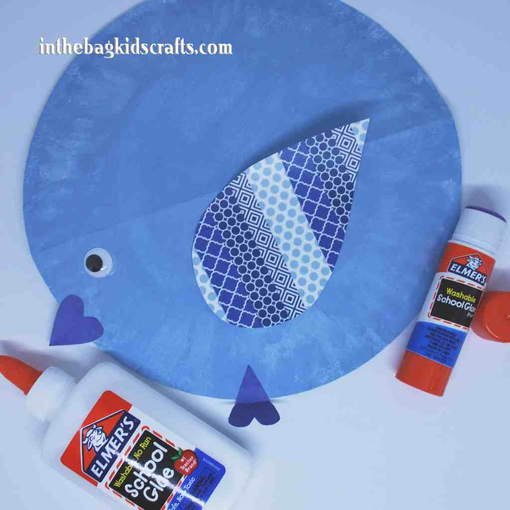 Easy Kids' Craft Rocking Blue Bird Step 5