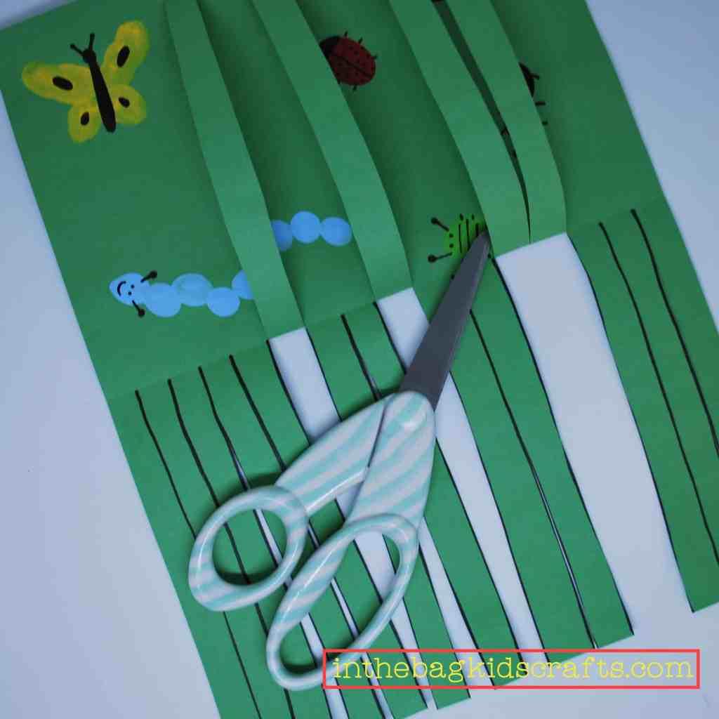 bugs in the grass scissor activity