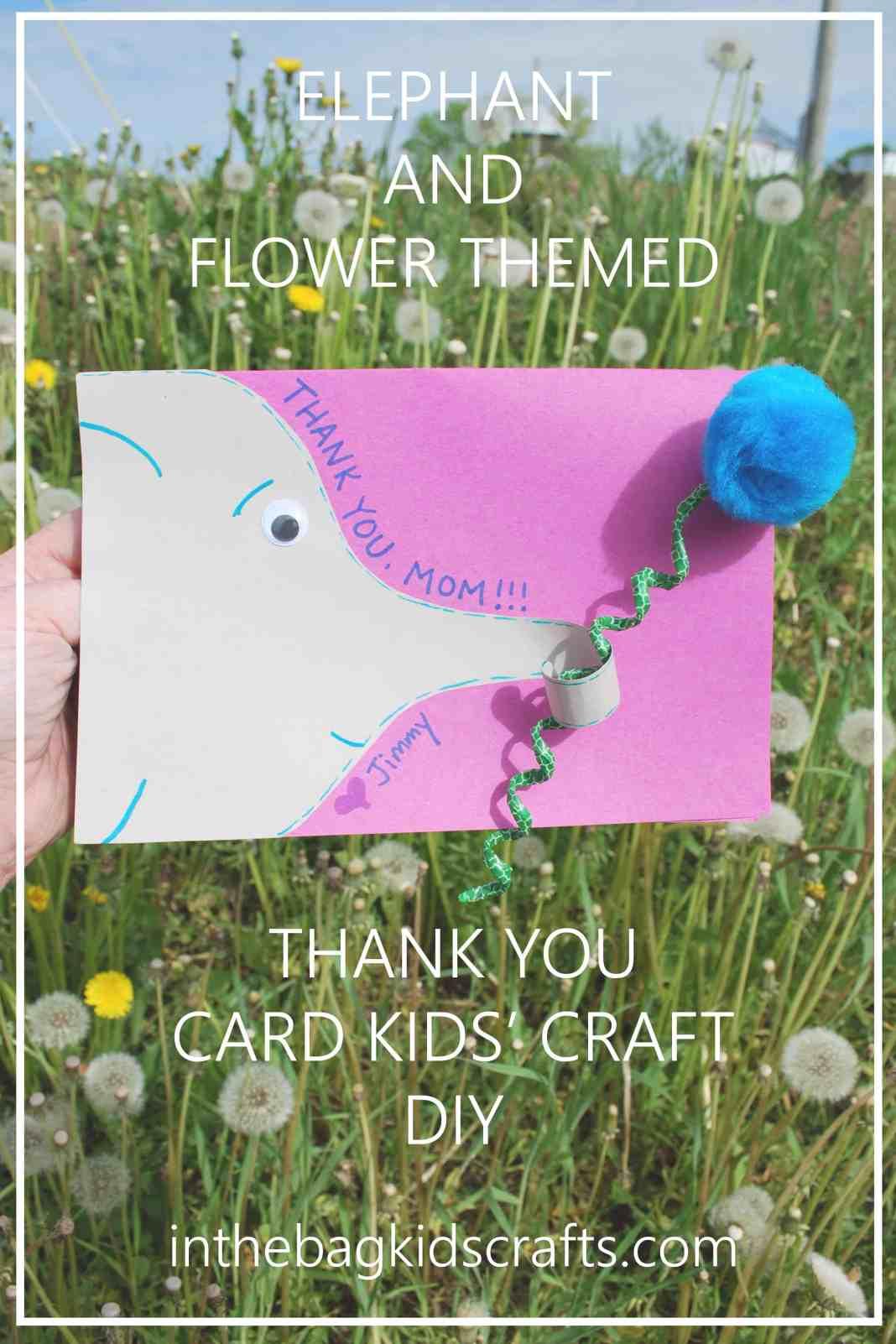 Easy Kids' Craft Elephant Card