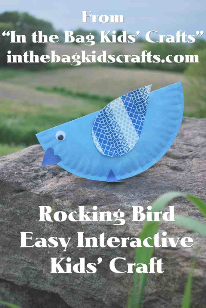 Easy Kids' Craft Rocking Blue Bird