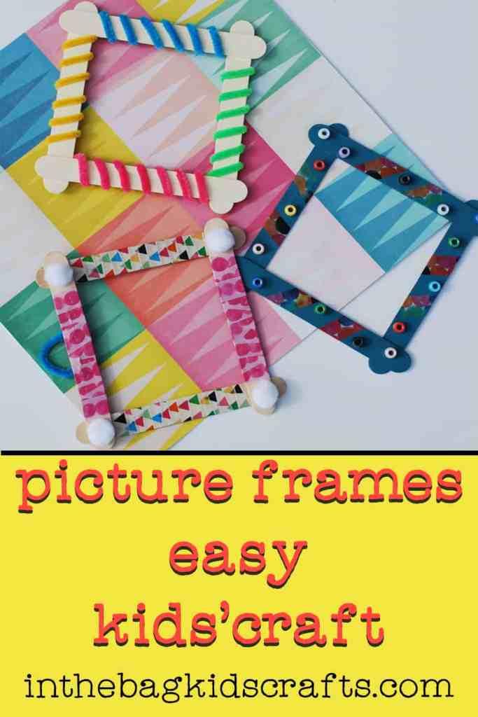 Easy DIY Kids' Craft Picture Frames