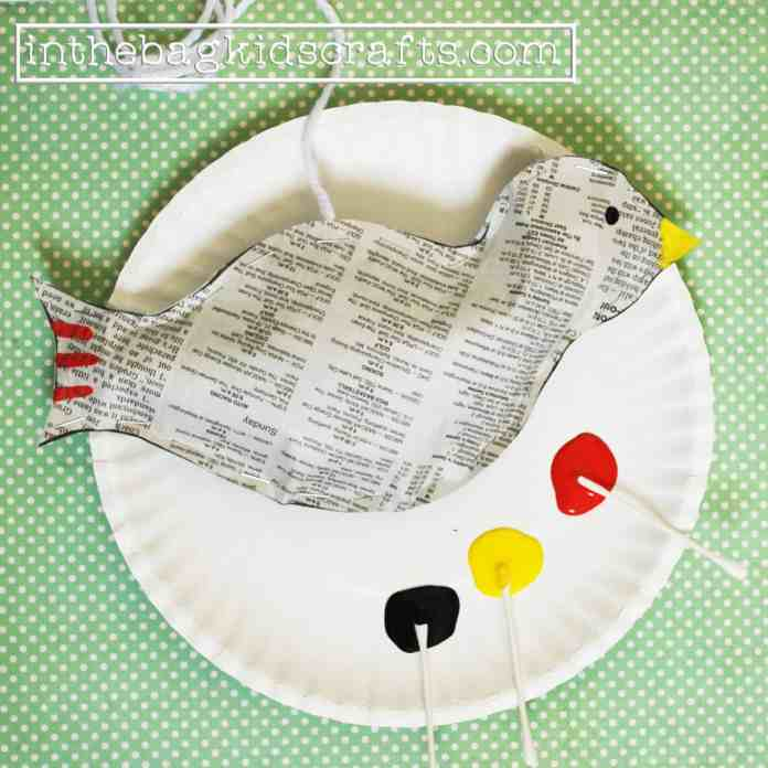 Easy Kids Craft Songbird Step 7