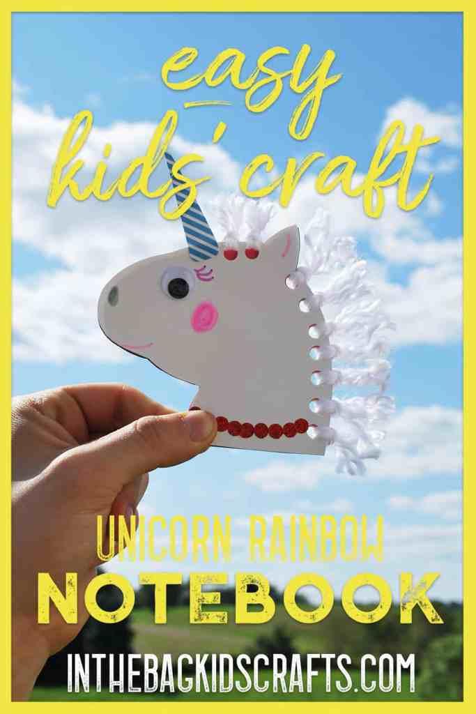 unicorn notebook kids craft