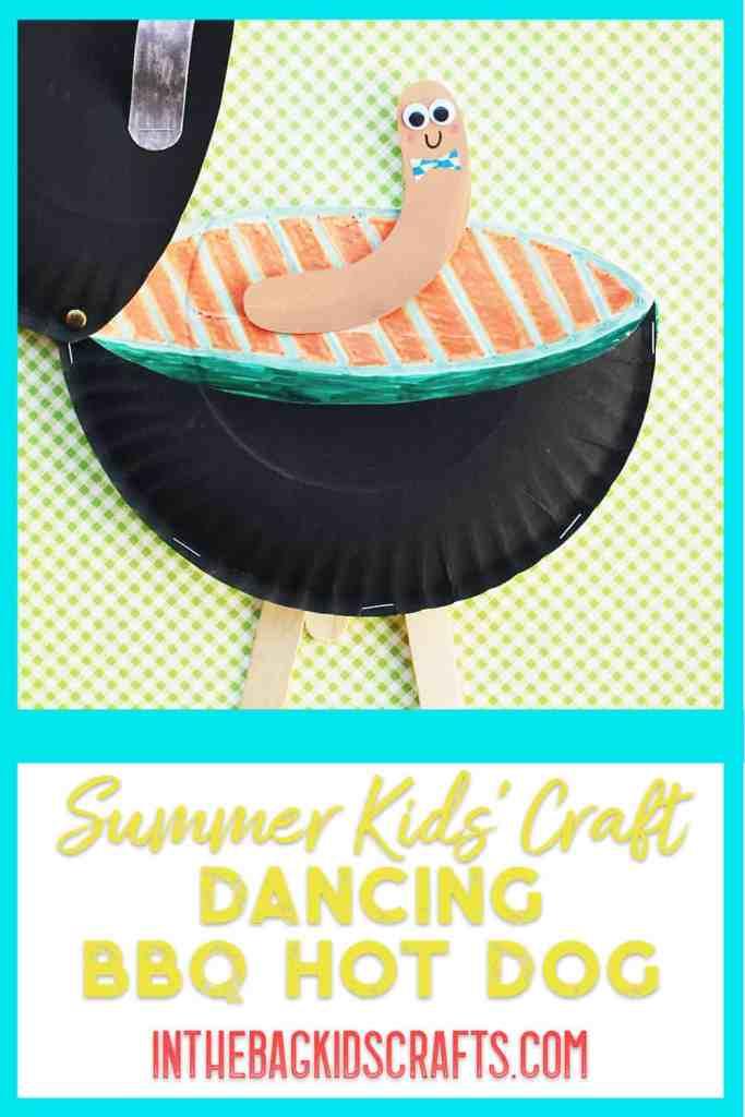 Dancing Hot Dot on a BBQ Kids Craft