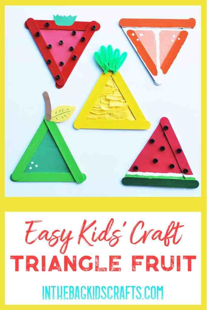 Easy Summertime Kids Craft Fruit Basket