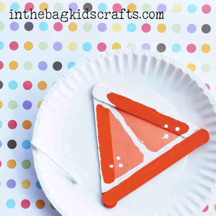 Easy Summertime Kids Craft Orange slice step 6