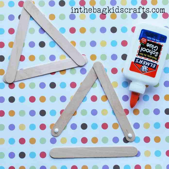 Easy Summertime Kids Craft Pear step 1