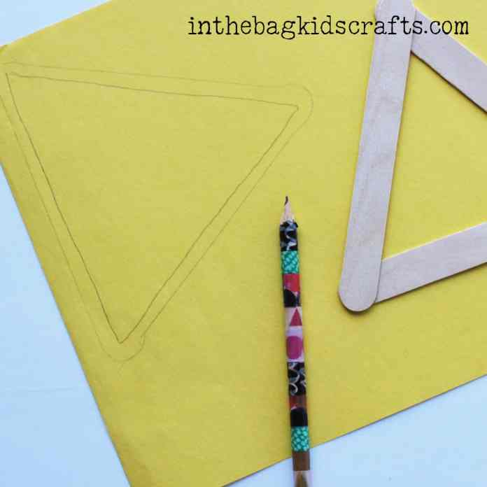 Easy Summertime Kids Craft Pineapple step 2