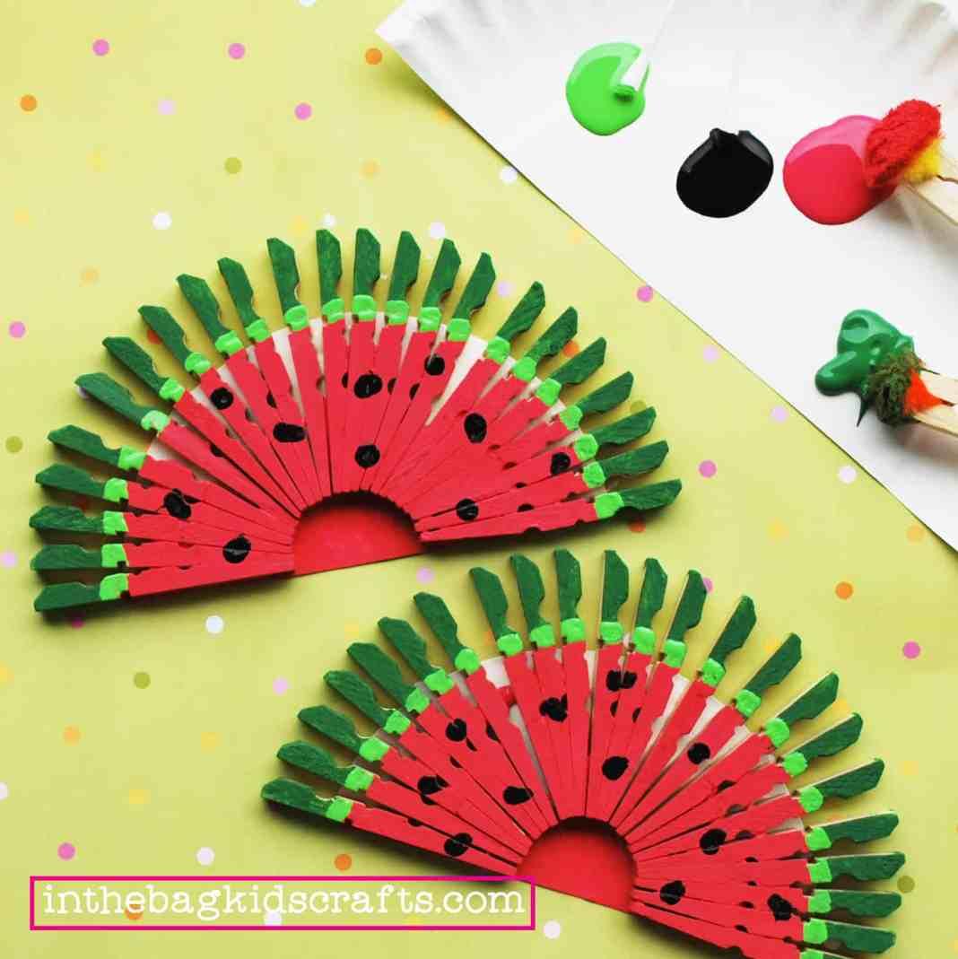 watermelon slice coasters