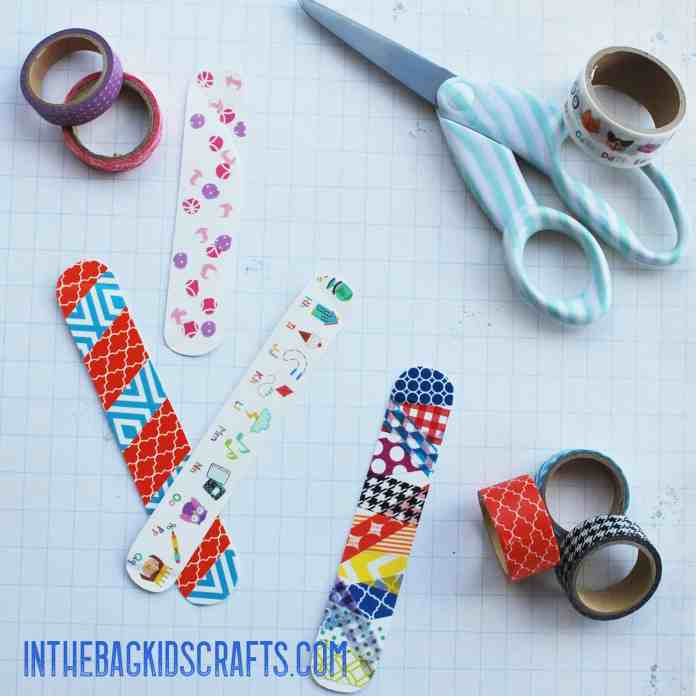 washi tape bracelets step 2