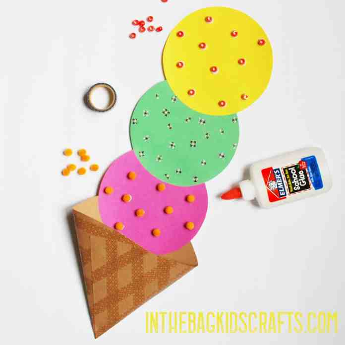 ice cream cone kids craft step 4