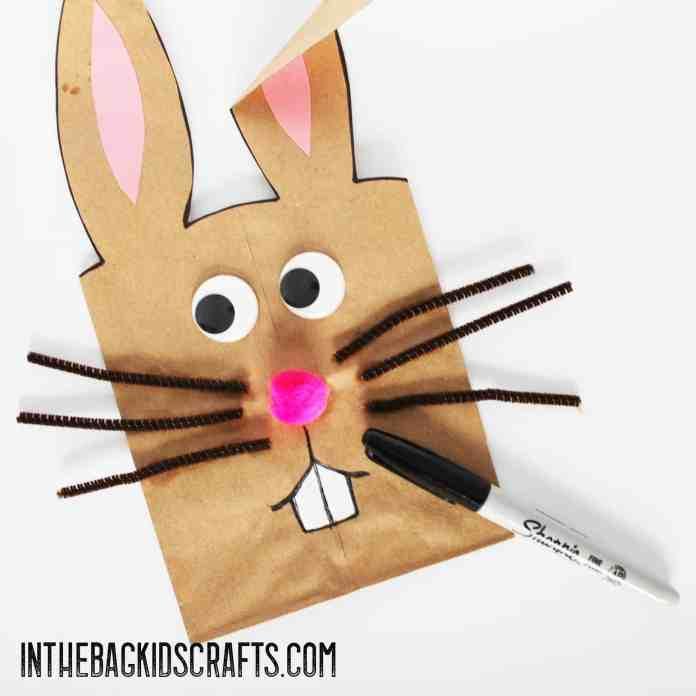 bunny gift bag kids craft step 4b
