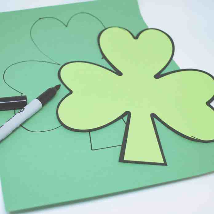 decorative clovers step 1:  cut out the clover