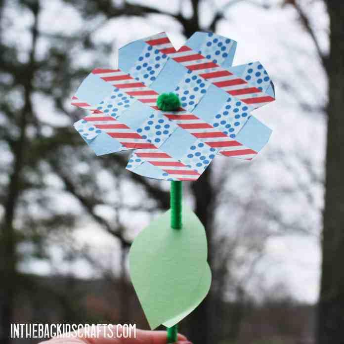 SIMPLE PAPER FLOWER KIDS CRAFT