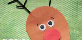 Rudolph Christmas Card