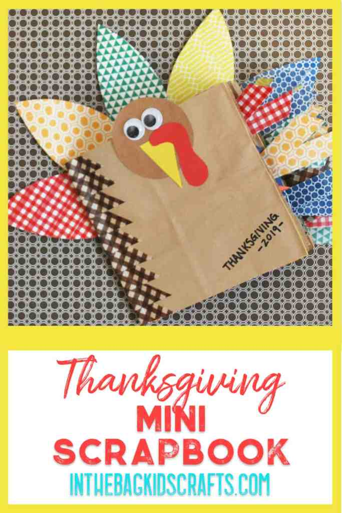 thanksgiving mini scrapbook