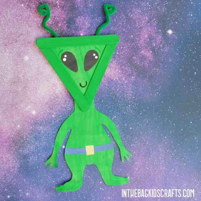 DIY SPACE CRAFTS FOR KIDS ALIEN