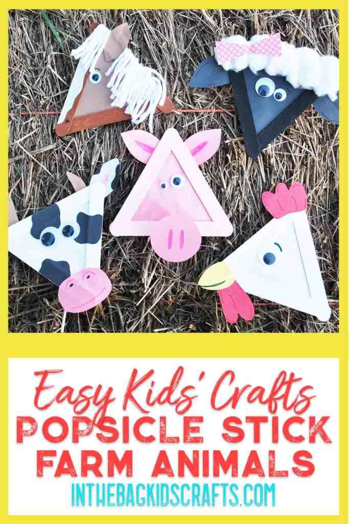 popsicle stick barnyard animal crafts