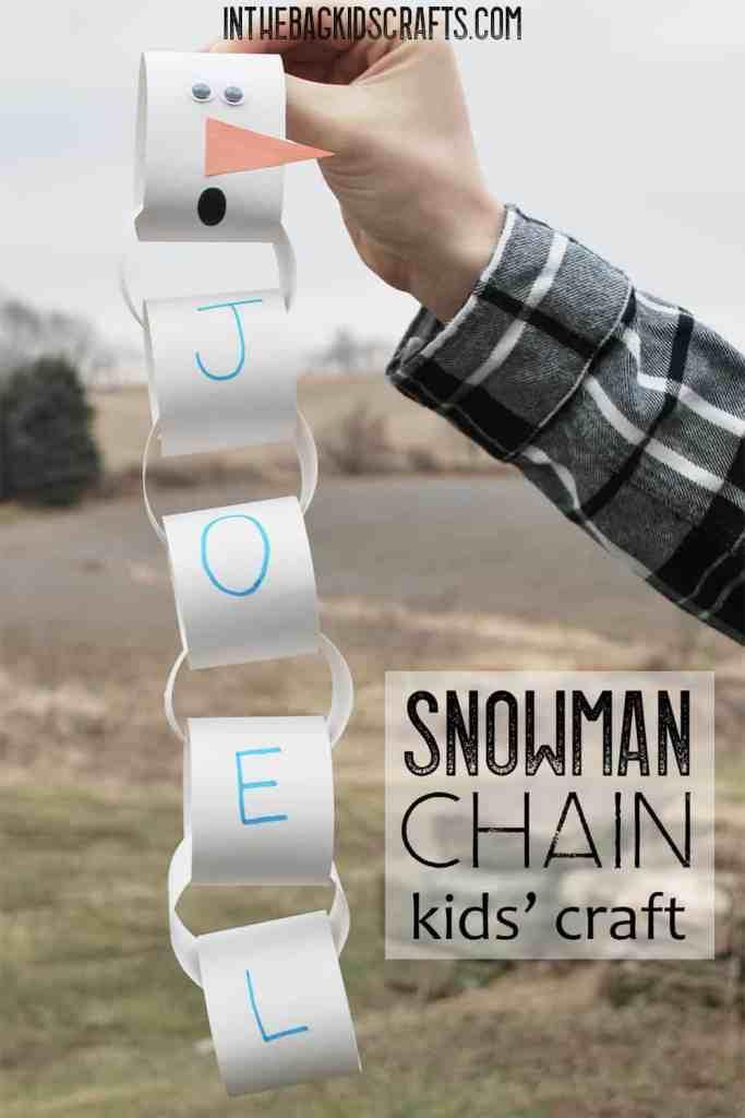 Snowman Chain Craft