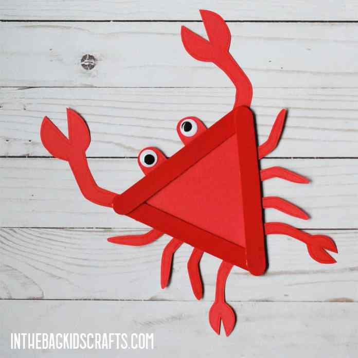 EASY CRAB CRAFT FOR KIDS