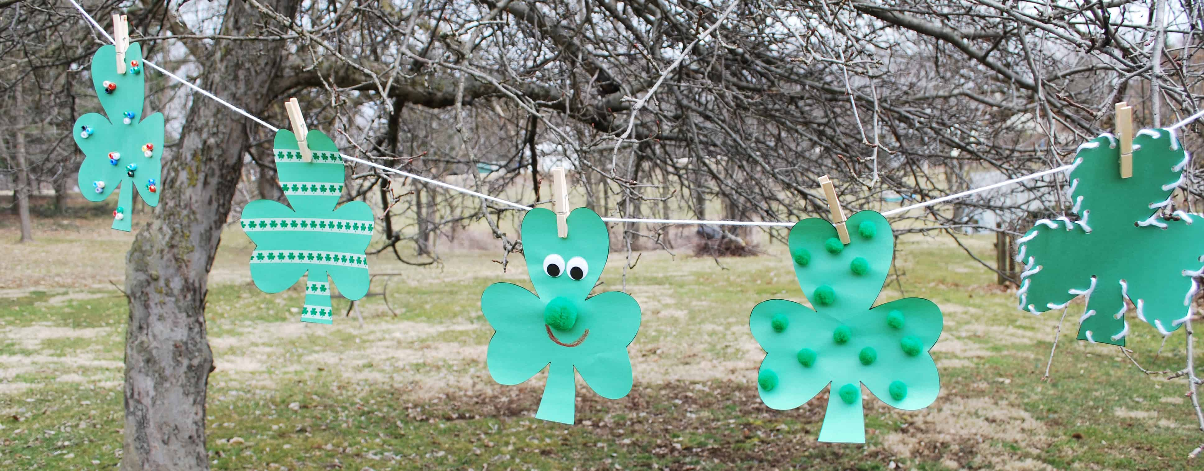 St. Patrick's Day Kids' Craft Lucky Clovers
