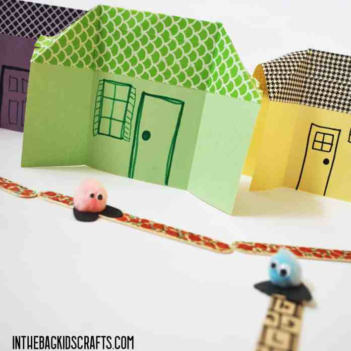 PATHWAYS AND PAPER HOUSES KIDS CRAFTS