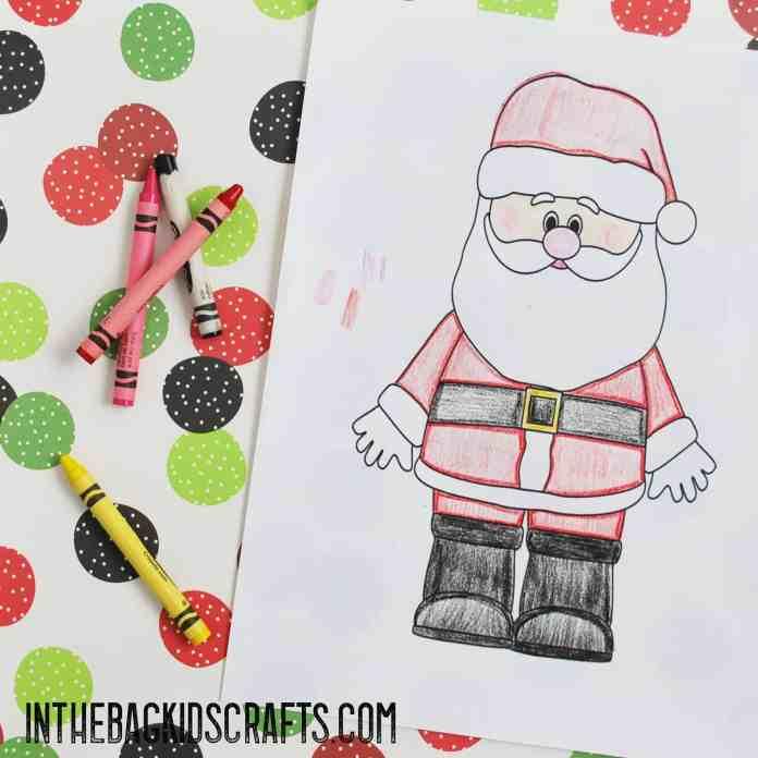 Santa Card step 2