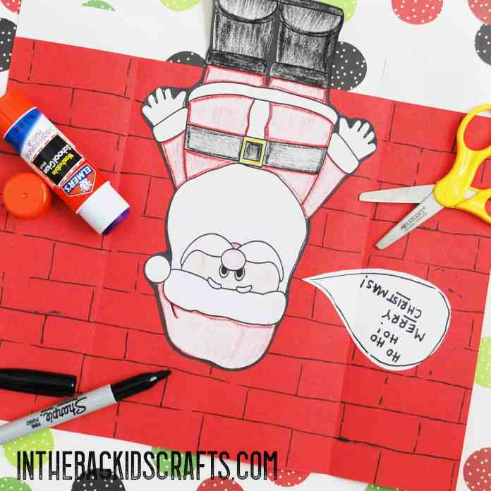 Santa card step 3