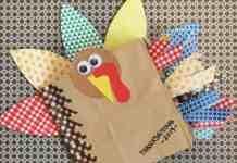 Thanksgiving mini scrapbook kids' craft