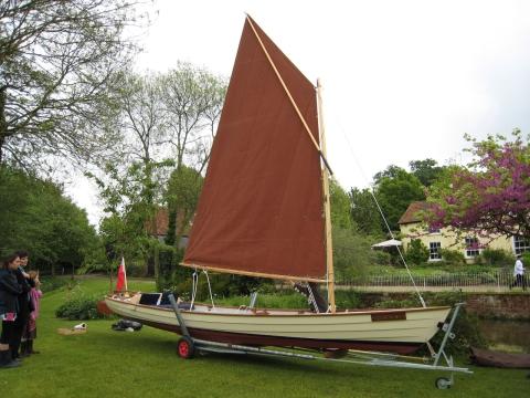 The launch of the John Nash skiff