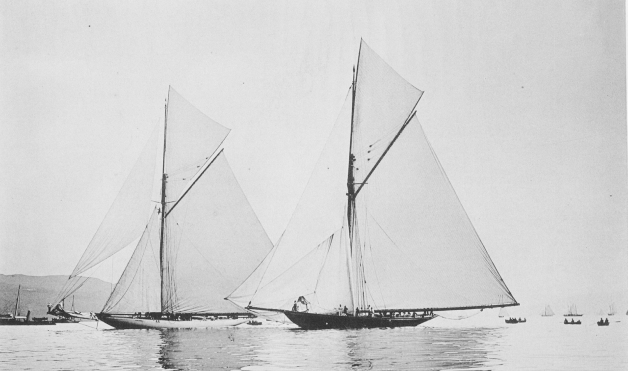 Classic 100 Year Old Photos Of Racing Sailing Yachts From The Americas Cup