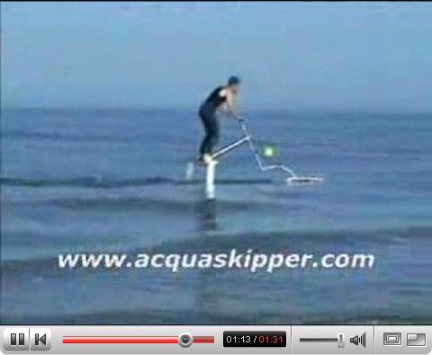 Acquaskipper human powered watercraft