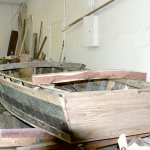 Restored Cuban fishing boat used by refugees
